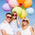 family with colorful balloons stock photo © dolgachov