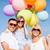 famille · coloré · ballons · été · vacances · célébration - photo stock © dolgachov