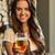 jong · meisje · binnenshuis · drinkwater · glimlachend · portret · meisje - stockfoto © dolgachov