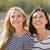2 · 笑い · 若い女性 · ビーチ · 夏休み · 休日 - ストックフォト © dolgachov