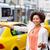 девушки · такси · городской · улице · жест · транспорт - Сток-фото © dolgachov