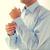 男 · ドレッシング · 布 · ホーム · 肖像 · ハンサムな男 - ストックフォト © dolgachov