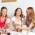 três · meninas · pizza · feliz · mulheres · jovens - foto stock © dolgachov