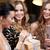 szczęśliwy · kobiet · szampana · dar · klub · nocny · uroczystości - zdjęcia stock © dolgachov