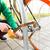 adam · bisiklet · kilitlemek · park · insanlar - stok fotoğraf © dolgachov