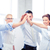 business team celebrating victory in office stock photo © dolgachov