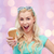 gelato · ragazza · eccitato · felice · mangiare · cono · gelato - foto d'archivio © dolgachov