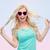 笑い · 少女 · バラ · かなり · 黒髪 · 女性 - ストックフォト © dolgachov