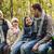 mutlu · aile · oturma · bank · konuşma · kamp · kamp - stok fotoğraf © dolgachov