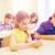 группа · школы · дети · Дать · испытание · классе - Сток-фото © dolgachov