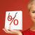 скидка · процент · символ · красный · корзина · женщину - Сток-фото © dolgachov