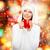 souriant · cute · femme · écharpe · chapeau · portrait - photo stock © dolgachov