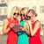 beautiful girls toursits looking into tablet pc stock photo © dolgachov
