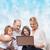 pai · natal · compras · on-line · laptop · branco - foto stock © dolgachov