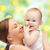 baby · jonge · moeders · vinger · familie · liefde - stockfoto © dolgachov