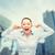 gritando · mulher · de · negócios · vista · lateral · perfil - foto stock © dolgachov