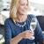 fête · d'anniversaire · heureux · femme · Toast · champagne · présents - photo stock © dolgachov