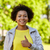 feliz · africano · americano · mulher · jovem · verão · parque · pessoas - foto stock © dolgachov