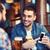 erkek · arkadaşlar · içme · bira · bar - stok fotoğraf © dolgachov
