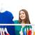 幸せ · 女性 · 服 · ホーム · ワードローブ - ストックフォト © dolgachov