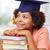 Afrika · öğrenci · kütüphane · öğrenme · eğitim - stok fotoğraf © dolgachov