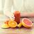 vrouw · handen · sap · vruchten · gezond · eten - stockfoto © dolgachov