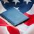 bandeira · americana · passaporte · cidadania · nacionalismo · azul - foto stock © dolgachov
