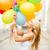 nő · színes · léggömbök · nyár · ünnepek · ünneplés - stock fotó © dolgachov