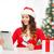 christmas · dziewczyna · ręce · kobieta · odizolowany - zdjęcia stock © dolgachov