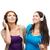two smiling teenagers with headphones stock photo © dolgachov