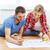 boldog · család · újonnan · vásárolt · ház · fektet · padló - stock fotó © dolgachov