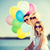 pai · filha · colorido · balões · verão · férias - foto stock © dolgachov