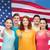 gioioso · donne · bandiera · americana · modello · Coppia · bellezza - foto d'archivio © dolgachov