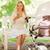 anya · okostelefon · nyár · park · anyaság · technológia - stock fotó © dolgachov