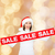 smiling woman in santa helper hat with sale sign stock photo © dolgachov