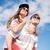 glimlachend · tieners · zonnebril · buiten · zomer - stockfoto © dolgachov