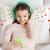 felice · sorridere · ragazza · sveglio · letto · home - foto d'archivio © dolgachov