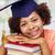 boldog · afrikai · agglegény · lány · könyvek · otthon - stock fotó © dolgachov