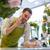 florista · hombre · portapapeles · contra · personas - foto stock © dolgachov