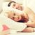 boldog · család · alszik · ágy · otthon · emberek · család - stock fotó © dolgachov