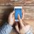 человека · мобильного · телефона · экране · Focus - Сток-фото © dolgachov