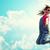 boldog · gyerek · ugrik · kívül · nyár · gyerekek - stock fotó © dolgachov