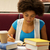 africano · americano · adolescente · estudante · escolas · livros · bastante - foto stock © dolgachov