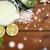 citrus body lotion in bowl on wood stock photo © dolgachov