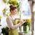 florista · mujer · cliente · flor - foto stock © dolgachov