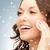 bőrápolás · nő · arc · pamut · közelkép · gyönyörű - stock fotó © dolgachov