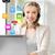 friendly female helpline operator with laptop stock photo © dolgachov