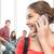 öğrenci · konuşma · cep · telefonu · kadın · kadın - stok fotoğraf © dolgachov