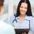 feminino · médico · escrita · prescrição · paciente · nomeação - foto stock © dolgachov