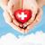 masculino · mãos · vermelho · coração · doador - foto stock © dolgachov